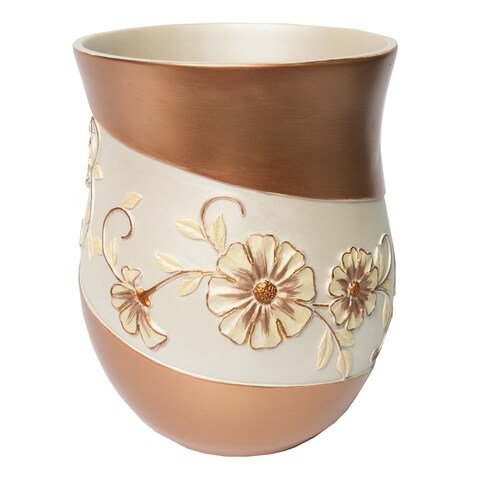 Beige Floral Bath Accessory Collection - 7 Options