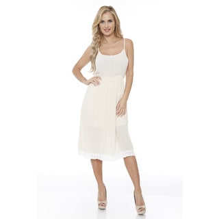 White Mark Women's Laced Bottom Tank Dress