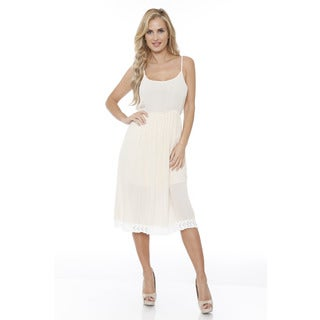 White Mark Women's Laced Bottom Tank Dress (3 options available)