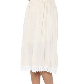 White Mark Women's Laced Bottom Tank Dress