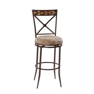 compton 24 in metal crossback counter stool