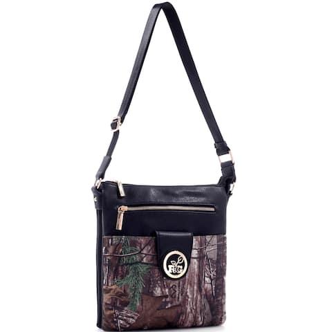 Realtree Girl Multi-compartment Crossbody Messenger Bag