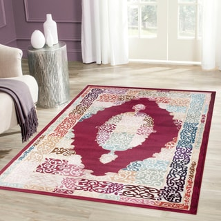 Traditional Oriental Medallion Design Red/Multi-colored Indoor Area Rug (3'3 x 5')