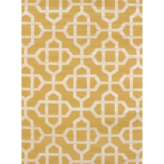 Effects Emilia Gold Multi-texture Accent Rug (2'7 x 4'2)
