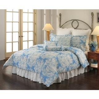 Sherry Kline Vienne Blue 8-piece Comforter Set