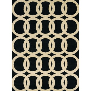 Effects Naomi Black Multi-Texture Accent Rug (2'7 x 4'2)