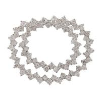 Luxiro Sterling Silver Cubic Zirconia Circles Pin Brooch