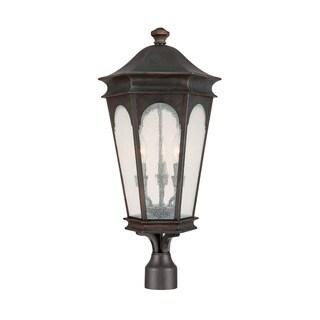 Capital Lighting Inman Park Collection 3-light Old Bronze Outdoor Post Head