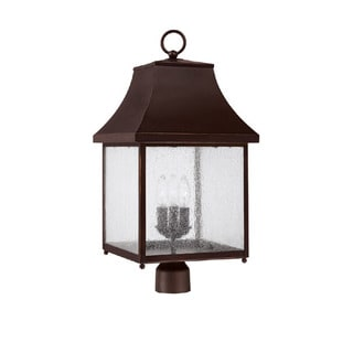Capital Lighting Collins Hill Collection 3-light New Bronze Outdoor Post Head