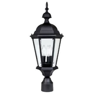 Capital Lighting Carraige House Collection 3-light Black Outdoor Post Head