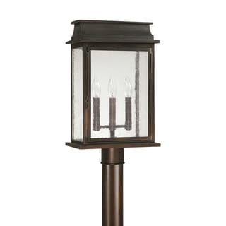 Capital Lighting Bolton Collection 3-light Old Bronze Outdoor Post Head