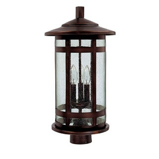 Capital Lighting Mission Hills Collection 3-light Burnished Bronze Outdoor Post Head