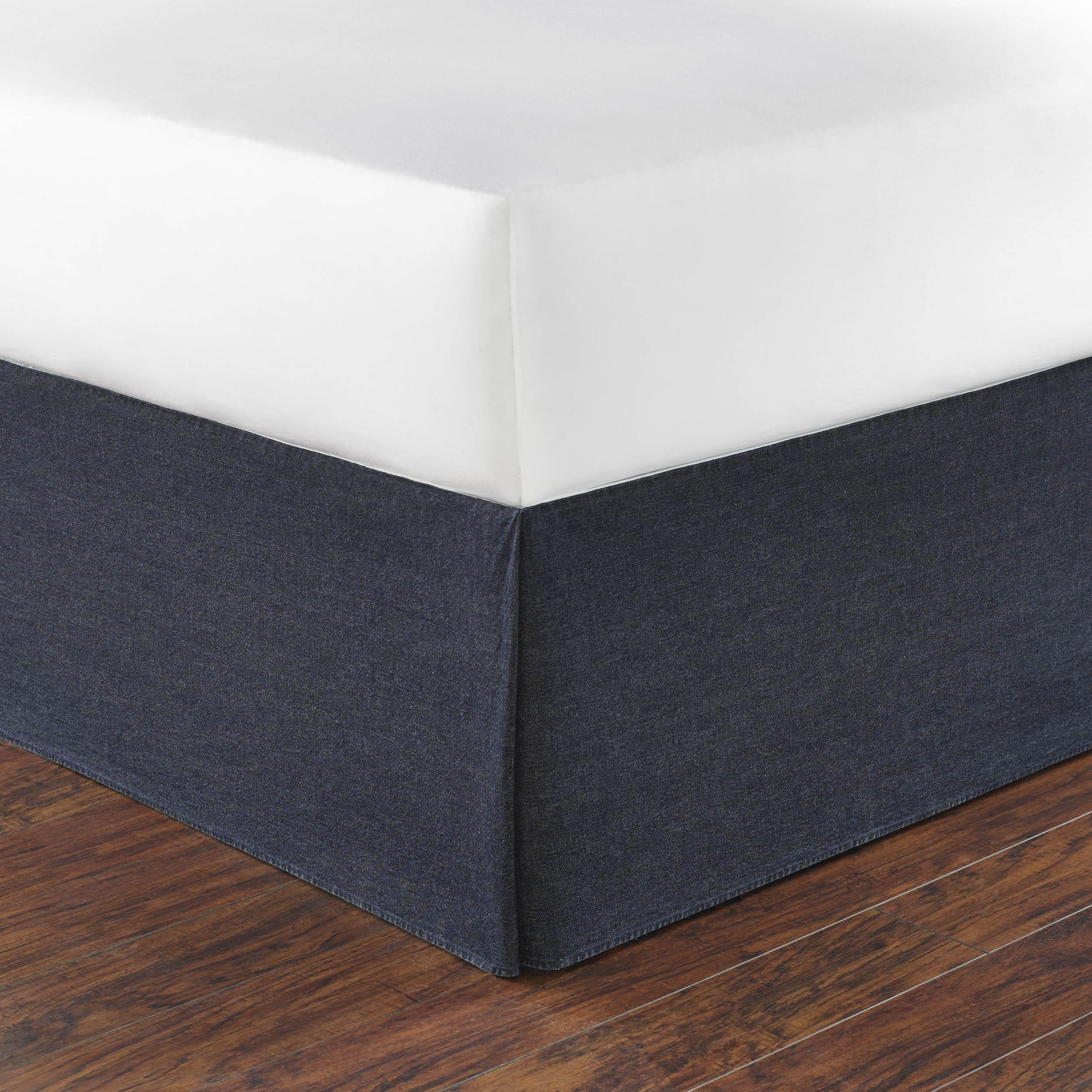 Nautica Seaward Denim 15-inch Drop Bedskirt (Full), Blue ...
