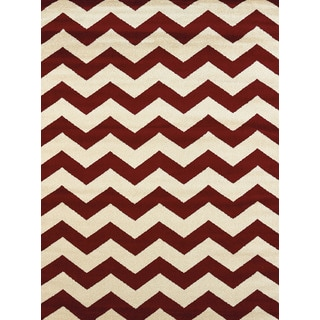 Effects Emerson Red Multi-texture Accent Rug (2'7 x 4'2)