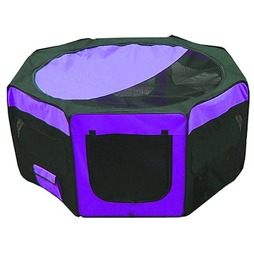 Iconic Pet Purple Portable Soft Pet Play Pen (Small)