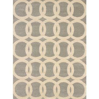 Effects Naomi Grey Multi-texture Accent Rug (2'7 x 4'2)