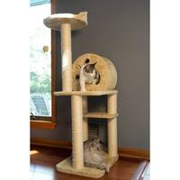 Iconic Pet Multi-level Cat Tree Playground with Multiple Sisal Posts and Condo