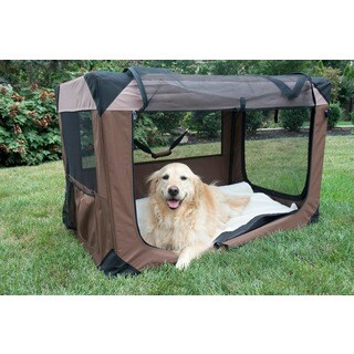 Iconic Pet Multipurpose Khaki Pet Soft Crate with Fleece Mat