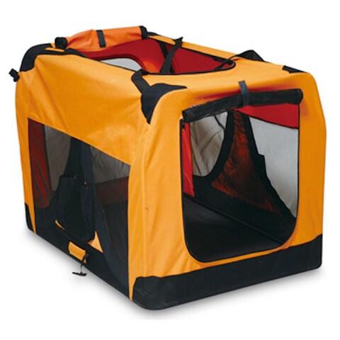 Iconic Pet Orange Versatile Pet Soft Crate with Fleece Mat