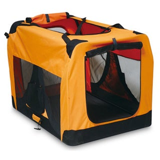 Iconic Pet Orange Versatile Pet Soft Crate with Fleece Mat