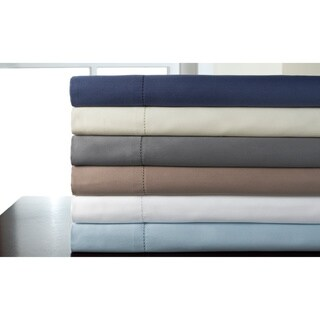 325 Thread Count Tuxedo Hemstitch 100-percent Pima Cotton Solid Sheet Set