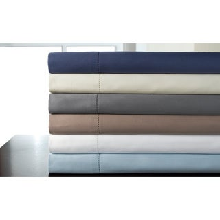 325 Thread Count Tuxedo Hemstitch 100-percent Pima Cotton Solid Sheet Set (5 options available)