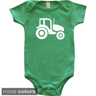 Rocket Bug Farm Animal Silhouette Tractor Baby Bodysuit
