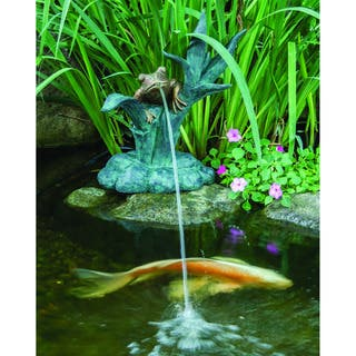 Frog on Reed Spitter Fountain|https://ak1.ostkcdn.com/images/products/10341675/P17450930.jpg?impolicy=medium