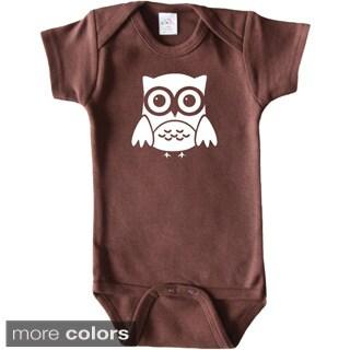 Rocket Bug Woodland Animal Owl Baby Bodysuit