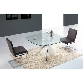 Casabianca Home Urban Collection Metal/ Glass Round Dining Table