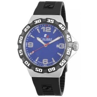 Calibre Men's Swiss Quartz Divers Black Rubber Strap Watch