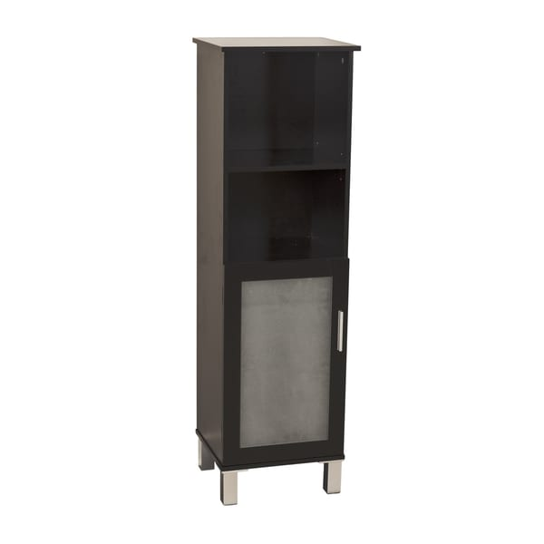 Shop Danya B Bath Cabinet With Frost Glass Doors Espresso Free