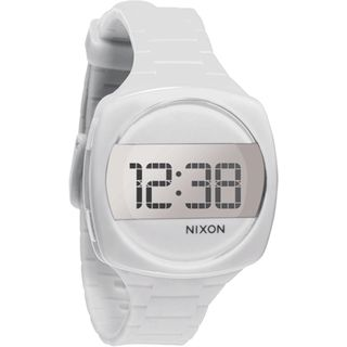 Nixon Unisex A168-100 'Dash' White Rubber Watch