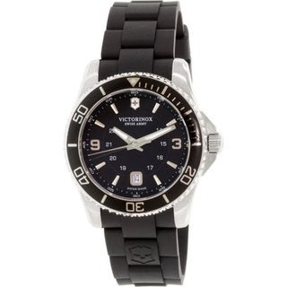 Victorinox Swiss Army Men's 241698 'Maverick' Black Rubber Watch