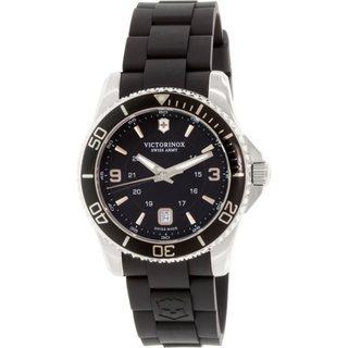 Victorinox Swiss Army Men's 241698 'Maverick' Black Rubber Watch