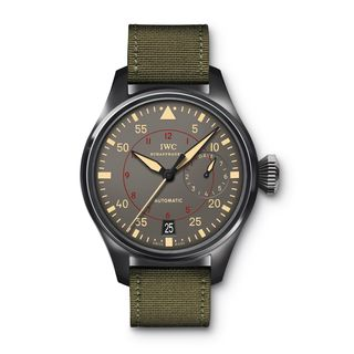 IWC Men's IW501902 'Big Pilot' Automatic Green Canvas Watch