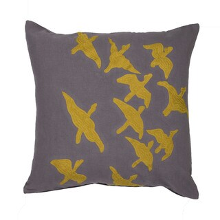 National Geographic National Geographic Animal Pattern Frost Grey/ Misted Yellow Cotton 20-inch Throw Pillow