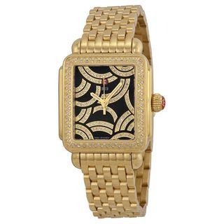 Michele Women's MWW06T000119 'Deco Signature' Diamond Stainless Steel Watch