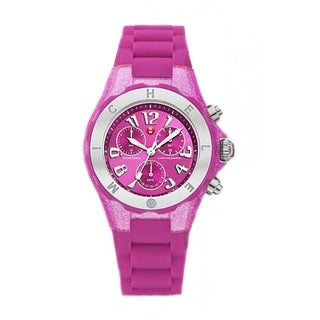 Michele Women's MWW12F000075 'Tahitian Jelly Bean' Chronograph Purple Rubber Watch