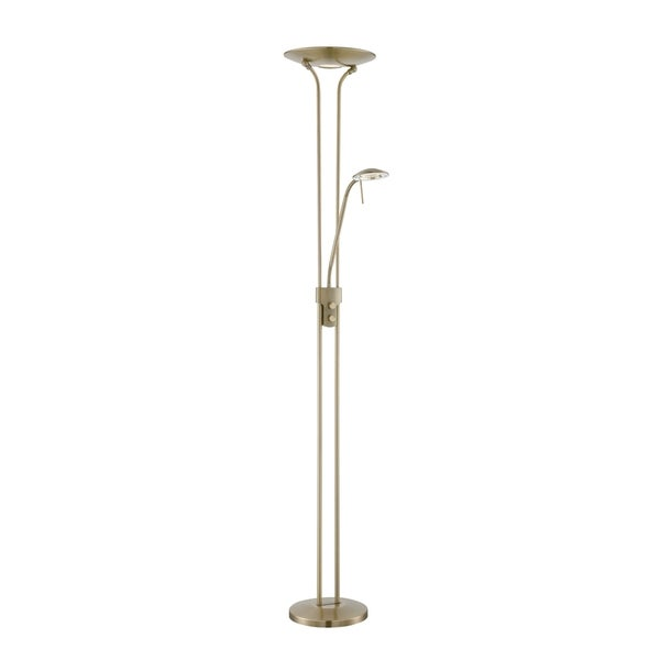 Lite Source Duality III 2-light Torch Lamp, Antique brass