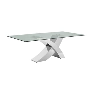 Geneva Collection Steel Glass Dining Table