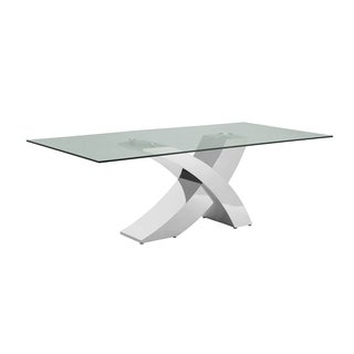 Good Casabianca Home Geneva Collection Steel/ Glass Dining Table