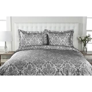 Delano Damask 300 Thread Count 100-percent Cotton Duvet Cover Set