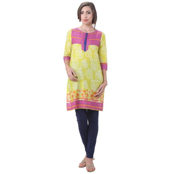 2101faebc9a Shop Handmade In-Sattva Women's Indian Royal Elephant Print Kurta Tunic  (India) - On Sale - Free Shipping On Orders Over $45 - - 10341980