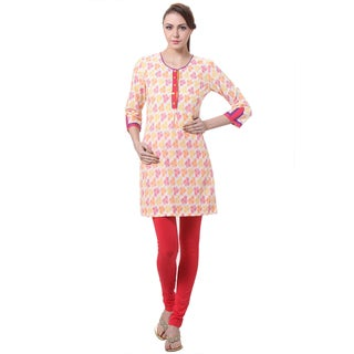 In-Sattva Women's Indian Colorful Floral Print Kurta Tunic