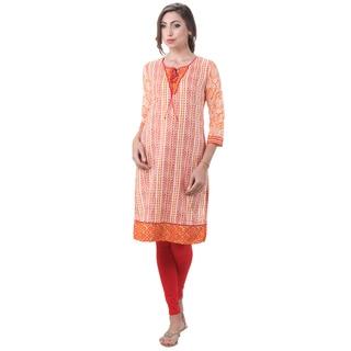 In-Sattva Women's Indian Colorful Striped Kurta Tunic