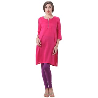 Link to Handmade In-Sattva Women's Indian Solid Color Sequin Neck Kurta Tunic (India) Similar Items in Tops