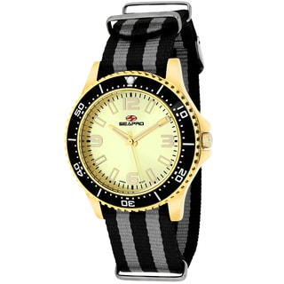 Seapro Women's SP5419NBK Tideway Round Two-tone Nylon Strap Watch