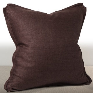 Chauran Dorian Espresso Linen Feather and Down Filled 20-inch Luxury Pillow