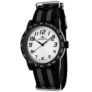 Seapro Women's SP5212NBK Bold Round Two-tone Nylon Strap Watch